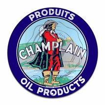 "Champalin Oil Products Design (Reproduction) 12"" Circle Aluminum Sign - $16.09"