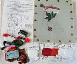Needlepoint Kit Patchwork Christmas Stocking American Needlepoint Guild ... - $19.69