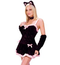 Kiss Me Kitty Adult Womens Halloween Party Costume Size Small Medium 2-8... - $18.76