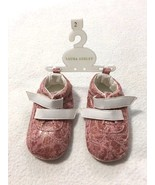 NEW Laura Ashley Infant 2 Baby Girl Pink Gold Metallic Crib Shoes Bootie... - $9.99