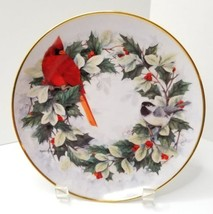 Franklin Mint Porcelain Holiday Chorus Christmas Cardinal Chickadee Bird... - $25.69