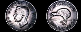1948 New Zealand 1 Florin World Coin - George VI - $9.99
