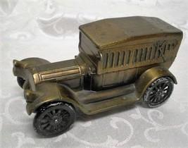 Vintage Banthrico Diecast Brass Car Coin Bank ~ 1917 Pierce Arrow Tourin... - $14.84