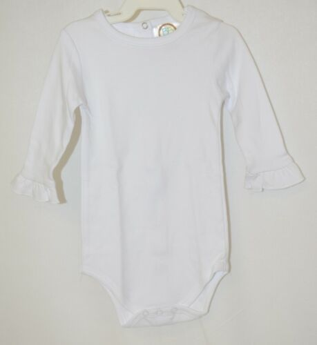 Blanks Boutique White Long Sleeve With Ruffle Bodysuit 6 To 9 Months