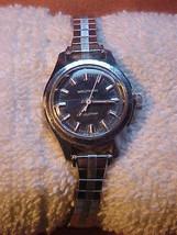 Waltham Ladychron West German Watch Rare Dark Blue Face - $19.00