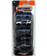 Matchbox Crime Squad 5-pack Emergency and Police Chase Diecast Vehicles - $26.48 CAD