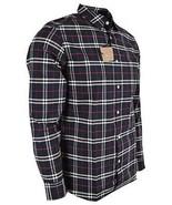 New Burberry Brit Men's GEORGE Navy Nova Check Cotton Long Sleeve Shirt XXL - $216.81