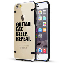 For iPhone SE 5 5s 6 6s 7 Plus Clear TPU Hard Case Cover Guitar Eat Slee... - $14.99