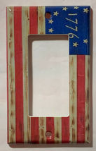 Betsy Ross star 1776 US Flag Wooden Switch Outlet wall Cover Plate Home Decor image 10