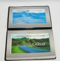 2001 Chevrolet Monte Carlo Factory Original Owners Manual Book Portfolio... - $17.77