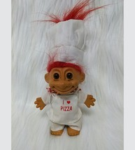 Russ Troll Chef I Love Pizza Red Hair Vintage Doll  #18417 Toy B350 - $8.49