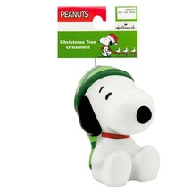 Hallmark Peanuts Snoopy Decoupage Christmas Ornament New with Tag image 1