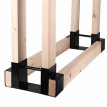 Mofeez Outdoor Firewood Log Storage Rack Bracket Kit,Fireplace Wood Stor... - $41.41