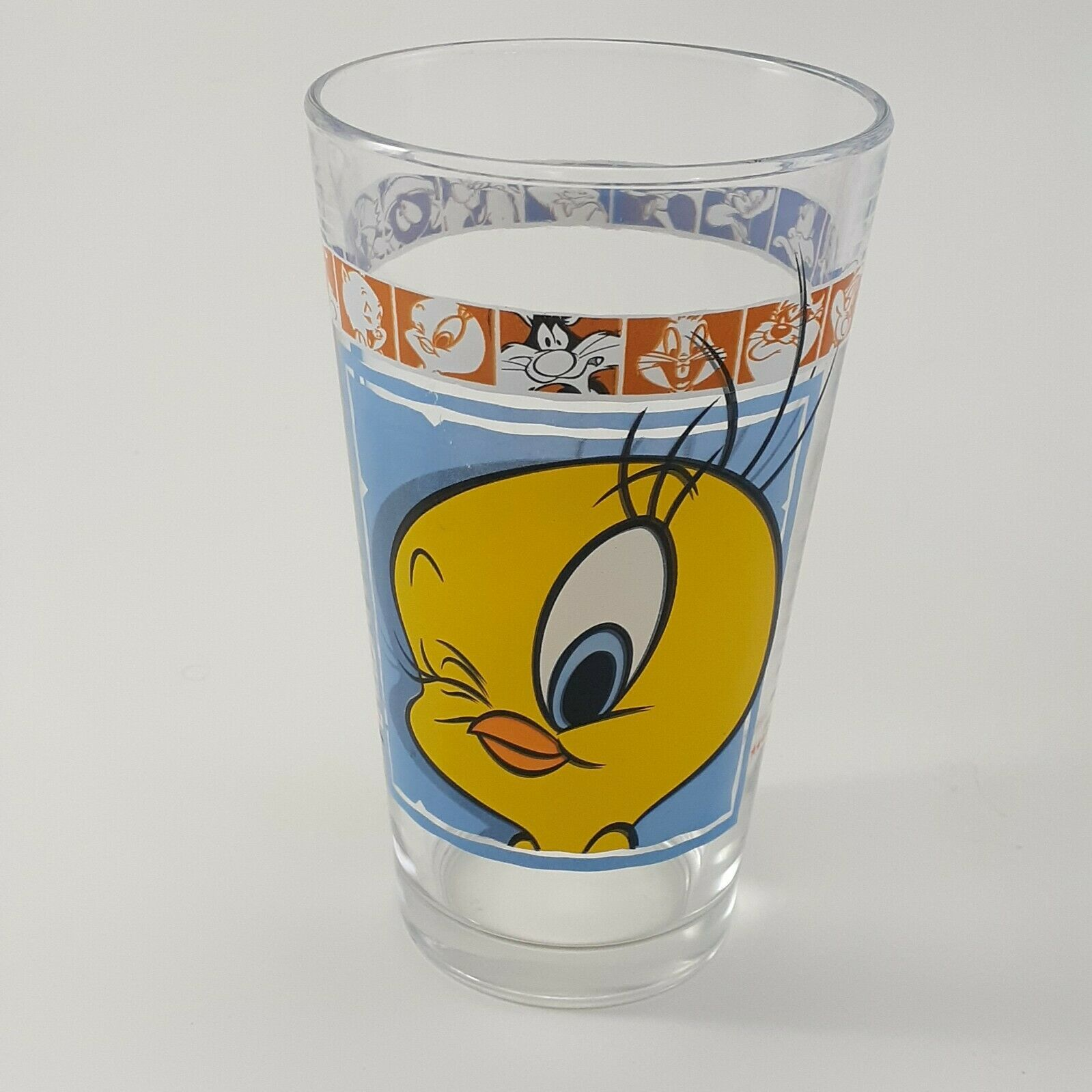 "1999 Warner Bros 5 3/4"" Looney Tunes Tweety Bird Drinking Glass"