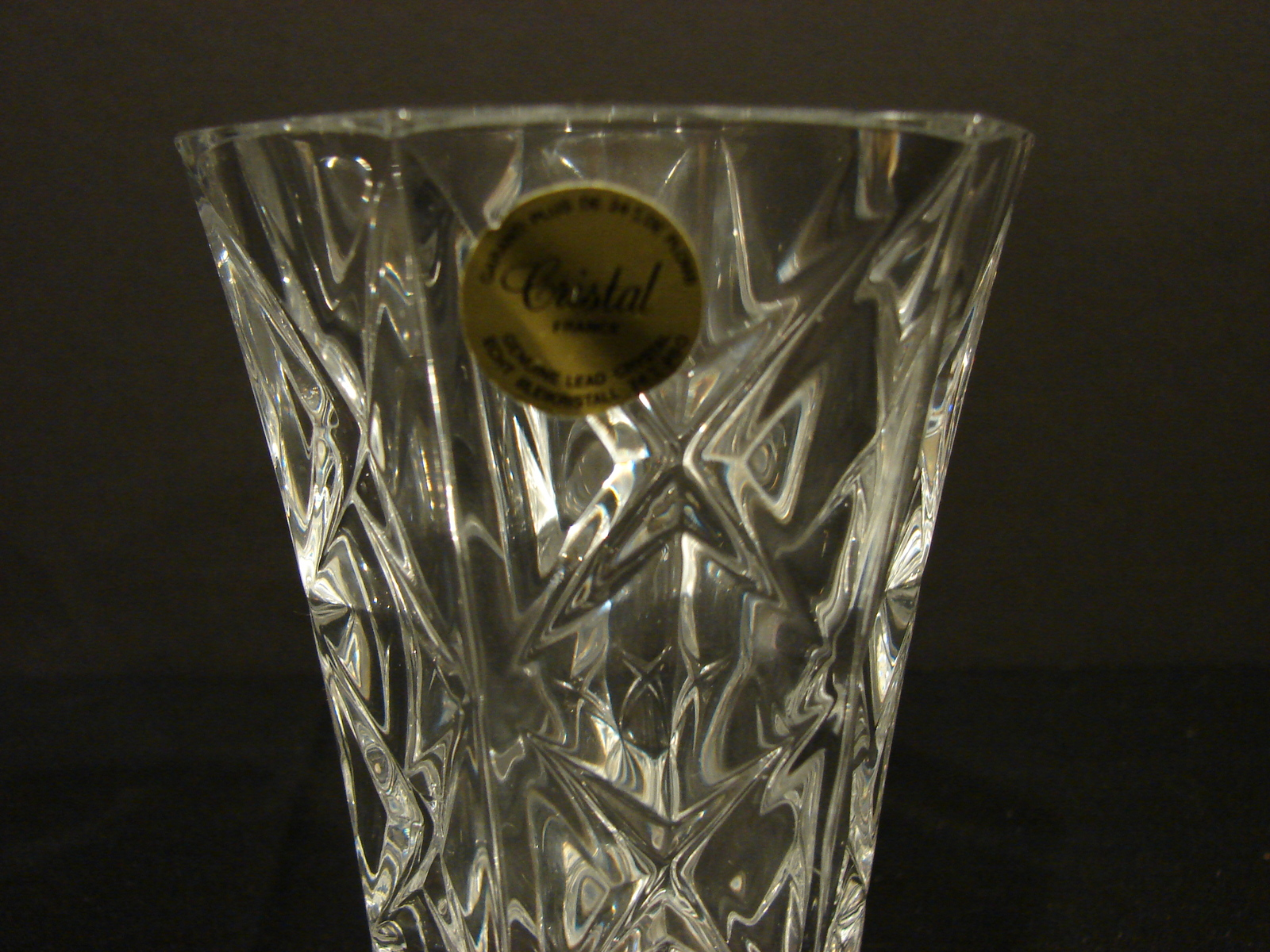 Two Matching 5 Inch Crystal d' Arques-Durand Sully Pattern Bud Vases image 5