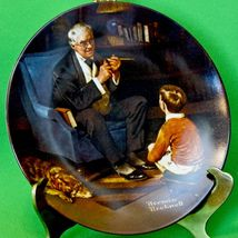 """1982 Knowles porcelain Norman Rockwell Collector Plate, """"The Tycoon"""" - $3.95"""