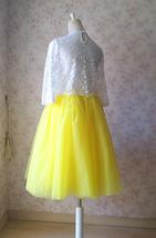 YELLOW Midi Tulle Skirt Yellow Wedding Bridesmaid Tulle Skirt 6-layer Tutu Skirt image 6