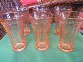 Beautiful Set of Pink TIARA Water Goblets/Glasses  6.5' - $32.26