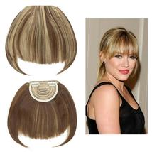 100% Natural Thin Bangs Fringe Clip in Hair Extensions Front Bangs image 14