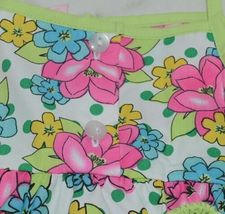 Mon Petit Lime Green Flowered Babydoll Top Bloomers Elastic Headband 24 Month image 4