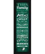 "Binghamton University ""Bearcats""- 24 x 8 Family Cheer Framed Print - $39.95"