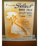 4th All New Select Dance Folio Arranged for Piano with Guitar Accom (193... - $8.99