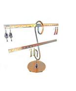 Copper Metal 16 pr. Earring Display 2 Bar Stand Countertop Jewelry Earrings - $14.50