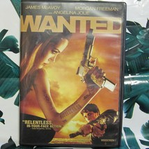 DVD Wanted James McAvoy Morgan Freemen Angelina Jolie Widescreen image 1