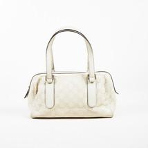 """Gucci Cream """"Guccisima"""" Leather """"Small Charmy Boston"""" Shoulder Bag - £289.85 GBP"""