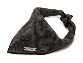 Lily Anne Boutique Gray Designer Dog Bandana | Pet Bandana | Premium 100% Cotton - $14.99