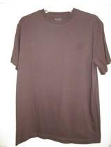 Sonoma Life + Style Cotton Crewneck Short SLV Men's T-Shirt Brown M  - $9.06