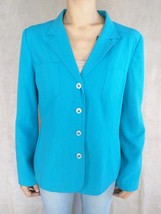SAG Harbor Turquoise Fully Lined Single Breasted Tailored Women's Jacket... - $13.09
