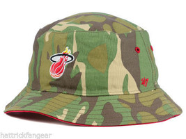 07111c5ac00a6d Miami Heat '47 Brand NBA Basketball Woodrow Bucket Style Cap Hat L