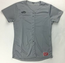 Rawlings Performance Build Full Button Baseball Jersey Women's Large Grey - $19.30