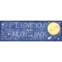 Baby Shower Moon and Back Giant Banner Party - $8.35