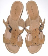 Easy Spirit woven sole backless wedge sandals sz .9.5 women's EUC - $19.79