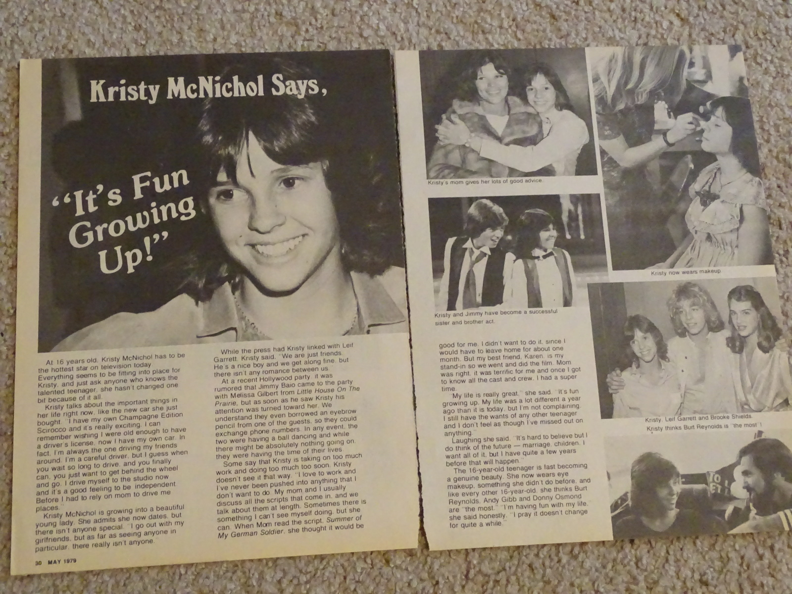 9e496d4b658 Kristy Mcnichol teen magazine pinup clipping it s fun growing up Tiger Beat  Bop