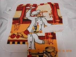 "New lot 2 Fat Italian Chef scrubber dishcloths 12X12"" kitchen stocking s... - $5.60"