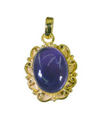 exquisite Amethyst Gold Plated Purple Pendant Natural jaipur US gift - $14.84