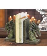 Fierce Dragon Bookends Mystical Muted Green - $23.00