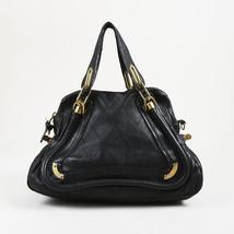 "Chloe Black Quilted Leather ""Medium Paraty"" Satchel Bag - $650.00"