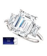 4.25 Carat EmeraldCut Moissanite ForeverOne Diamond Ring 14KGold Charles... - $3,850.00