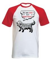 Basset hound all you need b - NEW COTTON BASEBALL TSHIRT ALL SIZES - $19.53