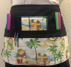 6 Pocket Waist Apron / Holiday / Tropical Snowman - $19.95