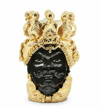 Moro Man Head Vase Hand Painted Italy New - $2,600.00