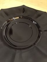 Vintage 60s Black Glass Octagon small plates/saucers- set of 5 image 4