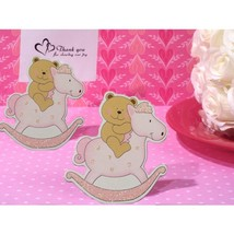 Adorable Pink Teddy Bear on Horse Place Card Holder - 36 Pieces - $33.95