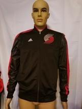 Portland Trailblazers Blazers Adidas Black Jacket Mens Size Small NBA Stitched - $34.29
