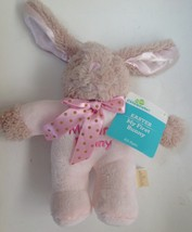Dan Dee Pink My First Easter Bunny Rabbit Girls Plush Baby Lovey Rattle New  - $7.87