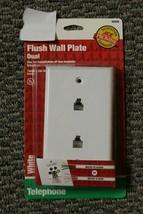 36208 White Dual Flush Wall Jack Wall Plate - $5.17